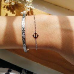 Armband Ancre Silber Alunir