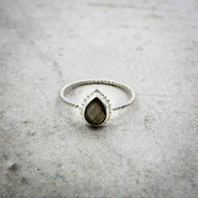 Ring Marie Mondstein Grau Silber