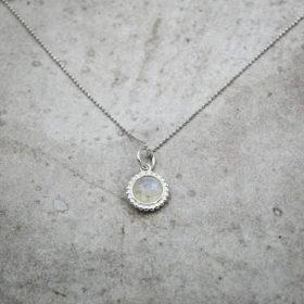 Halskette Kalea Mondstein Silber