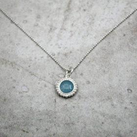 Halskette Kalea Aquamarin Silber