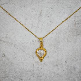 Halskette Kayla Bergkristall Gold