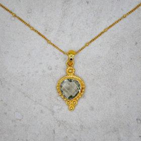 Halskette Kayla Amethyst Gold