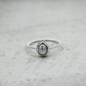 Ring Marie Perle Silber
