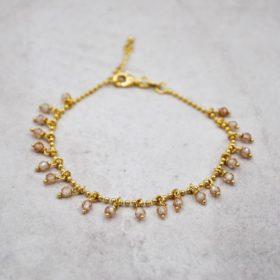 Armband Caroline Zirkonia Champagner Gold