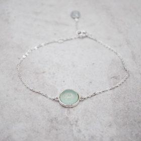 Armband Kailua Chalcedon Silber