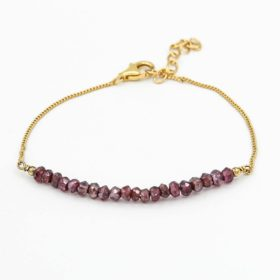 Armband Elea Granat Gold