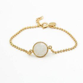 Armband Erin Mondstein Weiss Gold