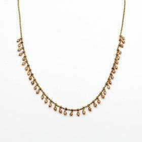 Halskette Caroline Zirkonia Champagner