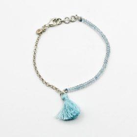 Armband Chayanne Aquamarin Silber