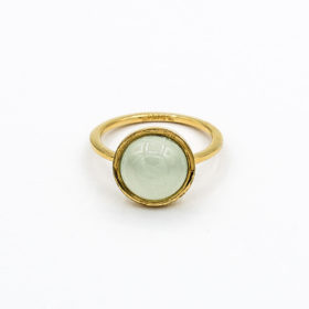 Ring Aqua Chalcedon Gold