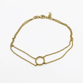 Fusskette Circle Gold
