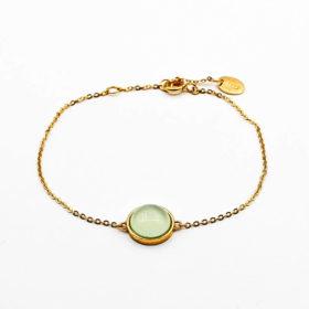 Armband Kailua Chalcedon Gold