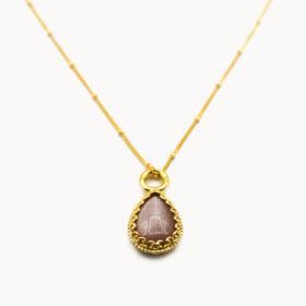 Halskette Rea Mondstein Gold