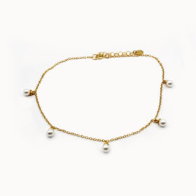 Fusskette Perl Gold