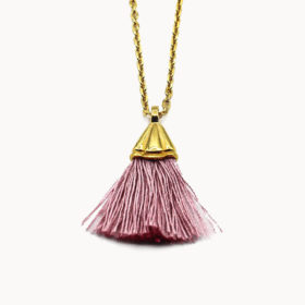 Halskette Amande Altrosa Gold