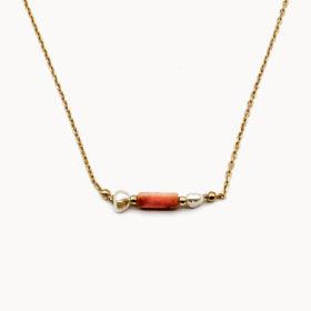 Halskette Enea Aventurin Gold