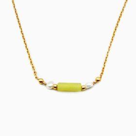 Halskette Enea Jade Gold
