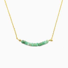 Halskette Aiko Smaragd Gold
