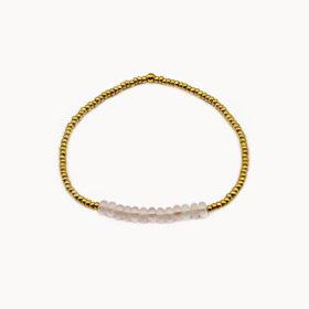 Armband Lanai Rosenquarz Gold