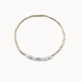 Armband Lanai Aquamarin Silber