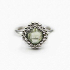 Ring Maeva Prehnit Silber