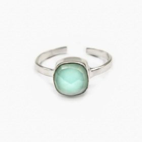 Ring Emilia Chalcedon Silber