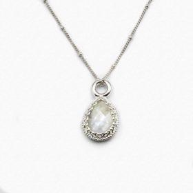 Halskette Rea Mondstein Silber