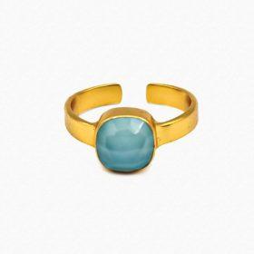 Ring Emilia Chalcedon Gold