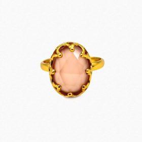 Ring Lanea Rosenquarz Gold