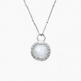 Halskette Rea Mondstein Silber – Rund