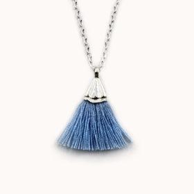 Halskette Amande Blau Silber