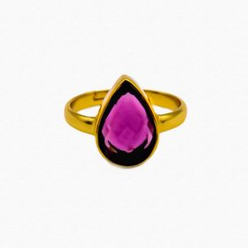 Ring Magali Amethyst Hydro Gold