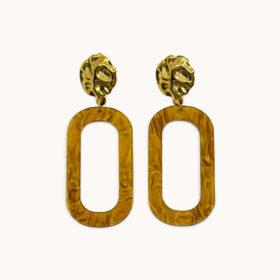 Ohrringe Moana Gold/Braun