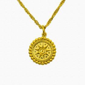 Halskette Medaillon Sonne Gold