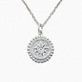Halskette Medaillon Sonne Silber