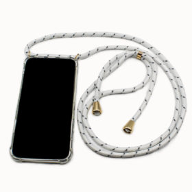 iPhone Kette White Stripes Gold