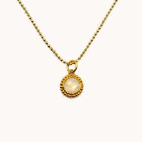 Halskette Kalea Mondstein Gold