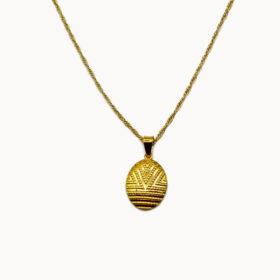 Halskette Medaillon Ornament Gold