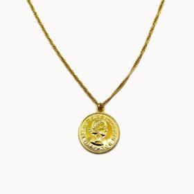 Halskette Medaillon Penny Gold