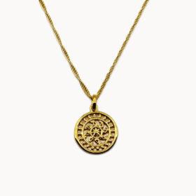 Halskette Medaillon Glücksrad Gold