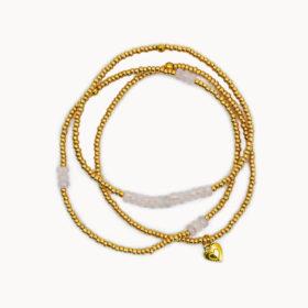 Bundle Rosenquarz Gold