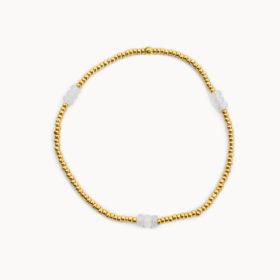 Armband Lania Rosenquarz Gold