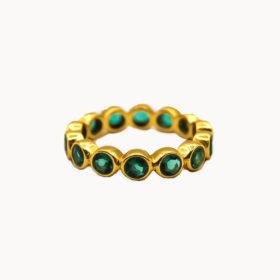 Ring Alisa Grün Gold