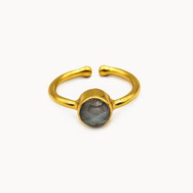Ring Mali Labradorit Gold