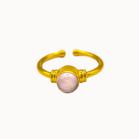 Ring Malia Rosenquarz Hydro Gold